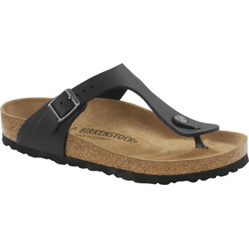 Birkenstock Gizeh Flips Oiled Leather Regular, black
